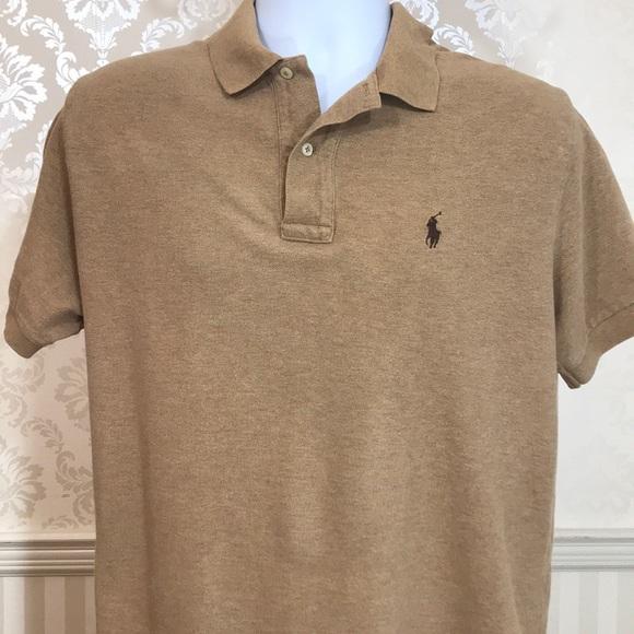 5e67799e Men's Ralph Lauren Polo Shirt in Tan. M_5b9c40450cb5aa9c6b37b342